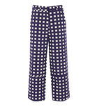 Warehouse, CROPPED GINGHAM TROUSER Multi 0