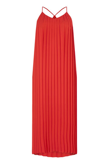 Warehouse, PLEATED DRESS Bright Red 0