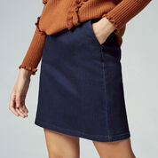Warehouse, Clean Denim Pelmet Skirt Indigo Denim 4