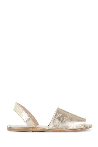 Warehouse, 2 PART SLINGBACK SANDAL Gold Colour 0