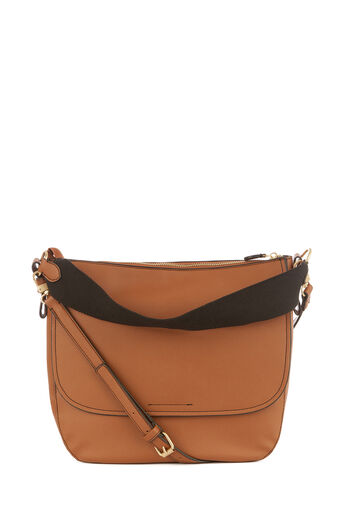 Warehouse, WEB STRAP SHOULDER BAG Tan 0