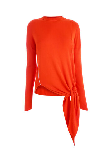 Warehouse, TIE FRONT CREW JUMPER Orange 0