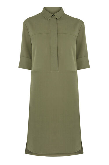 Warehouse, Casual Shirt Dress Khaki 0