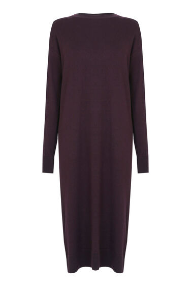 Warehouse, CREW KNIT JUMPER DRESS Berry 0