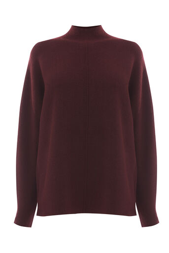 Warehouse, BATWING RIB JUMPER Berry 0