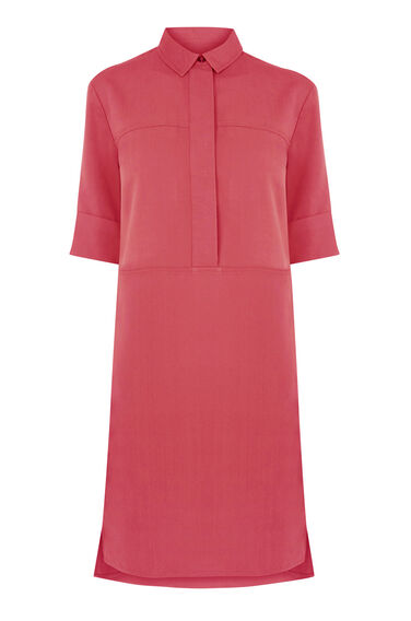 Warehouse, Casual Shirt Dress Raspberry 0
