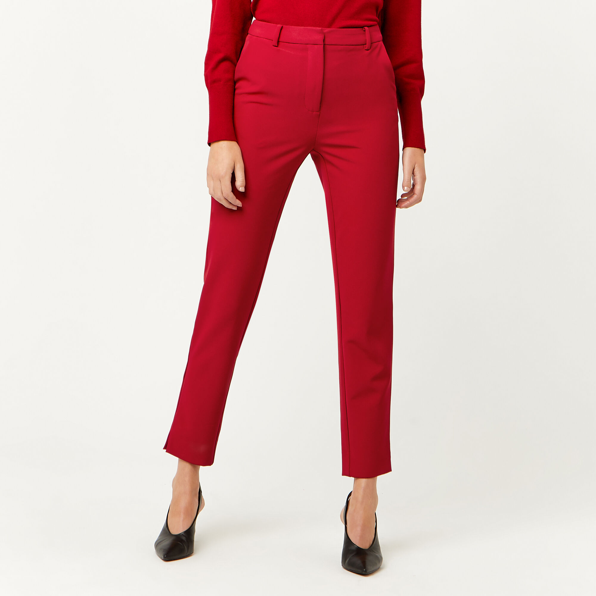 Warehouse, SLIM LEG TROUSER Bright Red 1