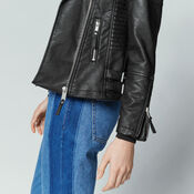 Warehouse, Faux Leather Biker Jacket Black 4