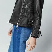 Warehouse, Faux Leather Biker Jacket Black 4