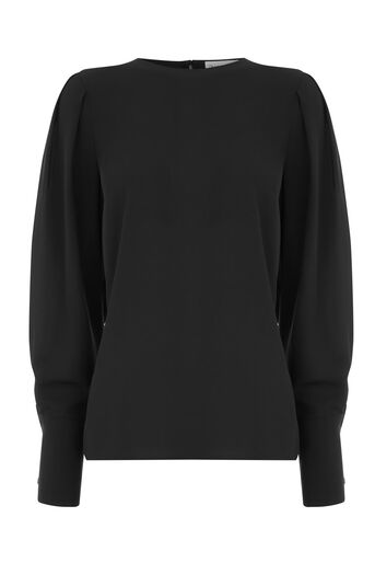 Warehouse, PUFF SLEEVE TOP Black 0
