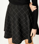 Warehouse, WINDOWPANE SKATER SKIRT Multi 4