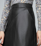 Warehouse, Faux Leather Pelmet Skirt Black 4