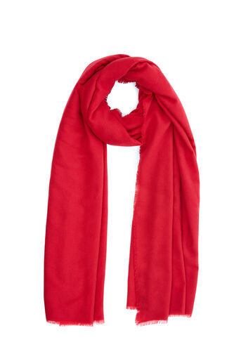 Warehouse, LARGE WRAP SCARF Bright Red 0