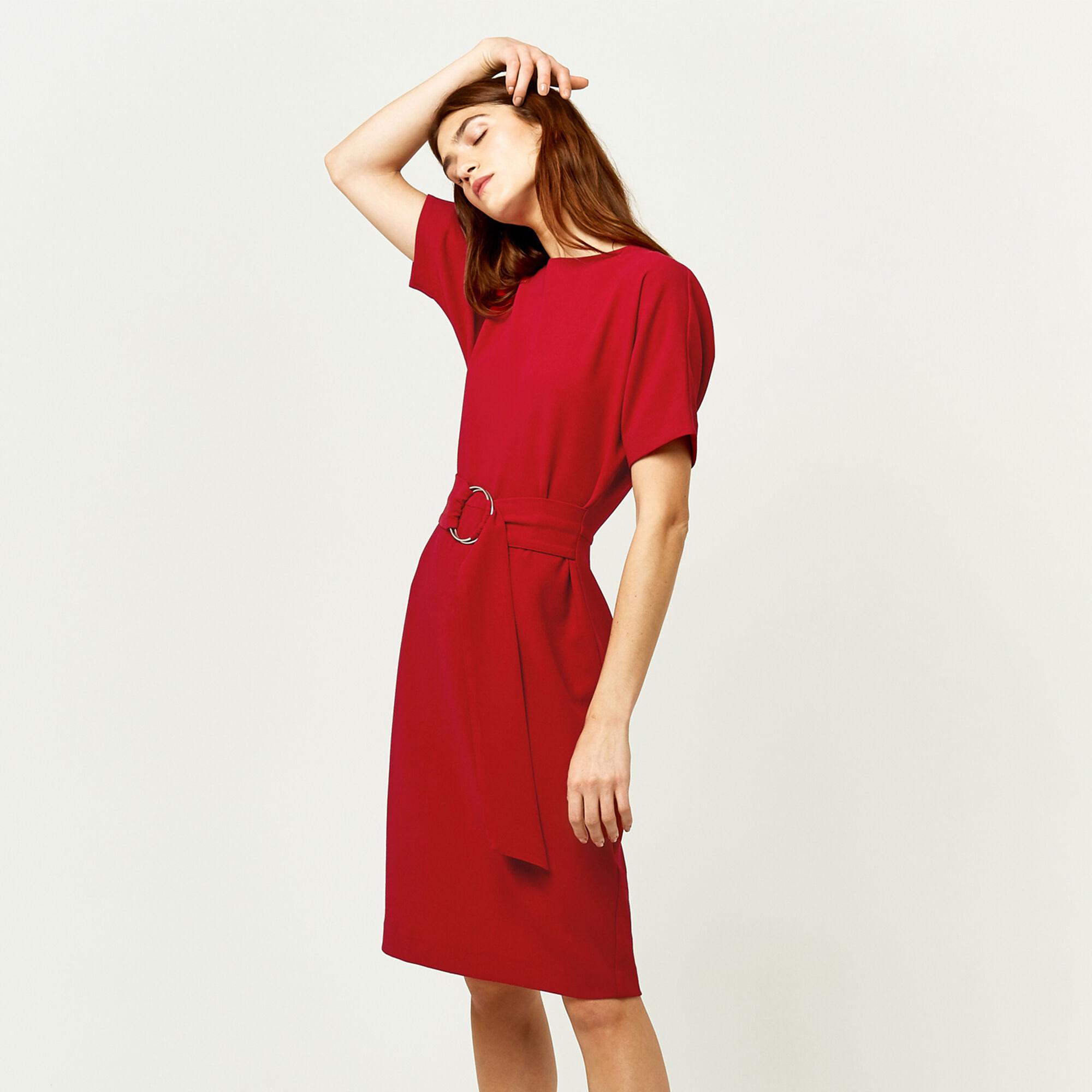 Warehouse, O RING DRESS Dark Red 1