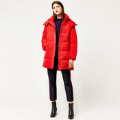 Warehouse, Padded Bubble Coat Bright Red 1