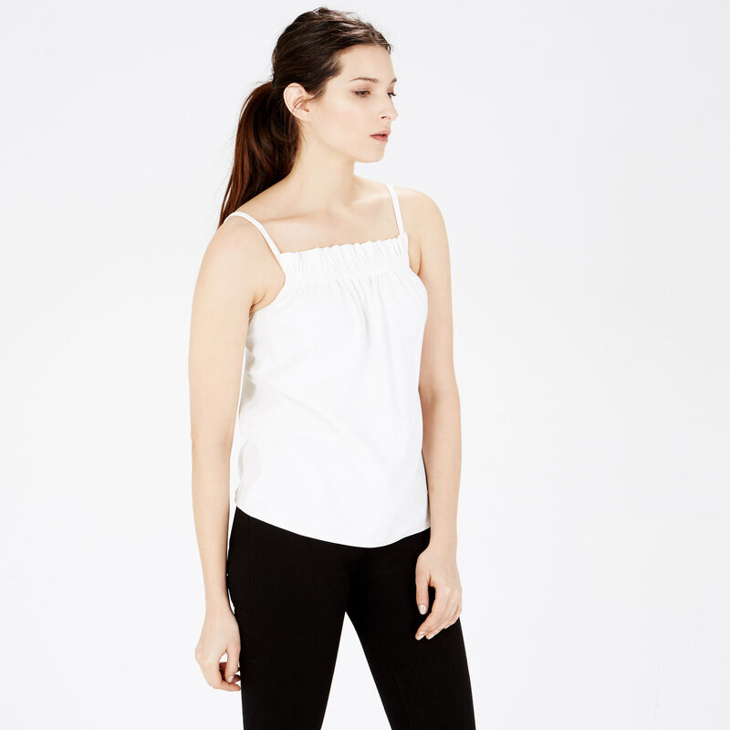 Warehouse, RUCHED CREPE CAMI Cream 1