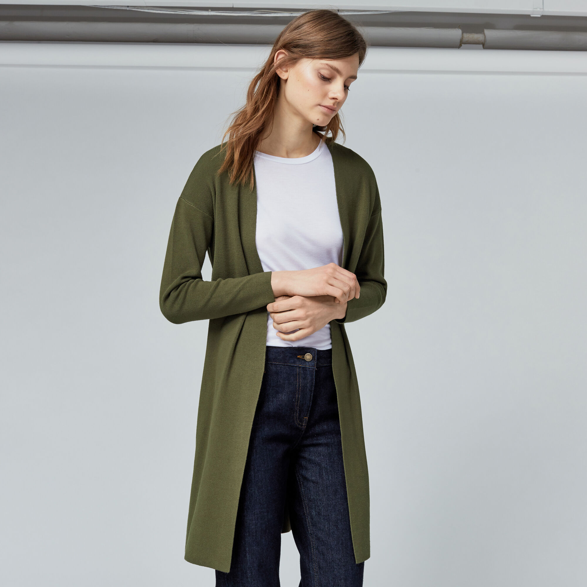 Warehouse, COATIGAN Khaki 1