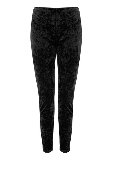 Warehouse, VELVET LEGGING Black 0