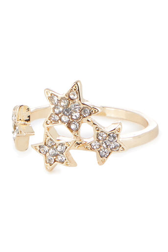 Warehouse, CONSTELLATION STAR RING Gold Colour 0
