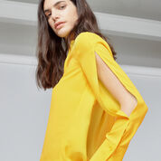 Warehouse, SPLIT SLEEVE BLOUSE Yellow 4