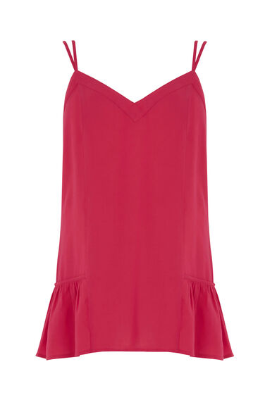 Warehouse, Double Strap Cami Bright Pink 0