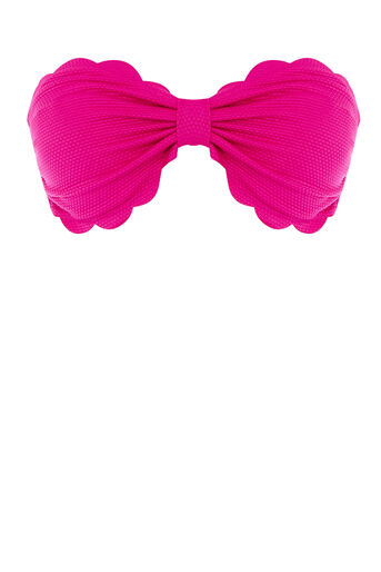 Warehouse, SCALLOP EDGE BIKINI TOP Bright Purple 0