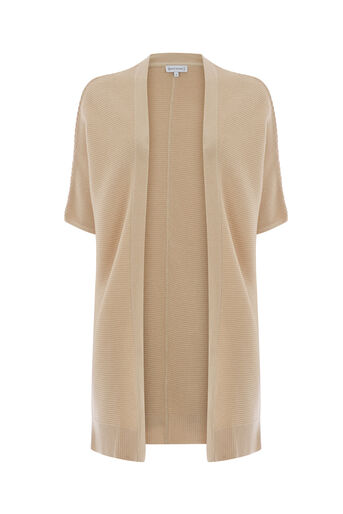 Warehouse, RIBBED LONGLINE CARDI Stone 0