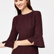 Warehouse, FLUTE SLEEVE DRESS Plum 4