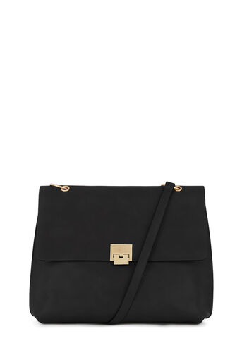 Warehouse, CLASP DETAIL LARGE CROSSBODY Black 0