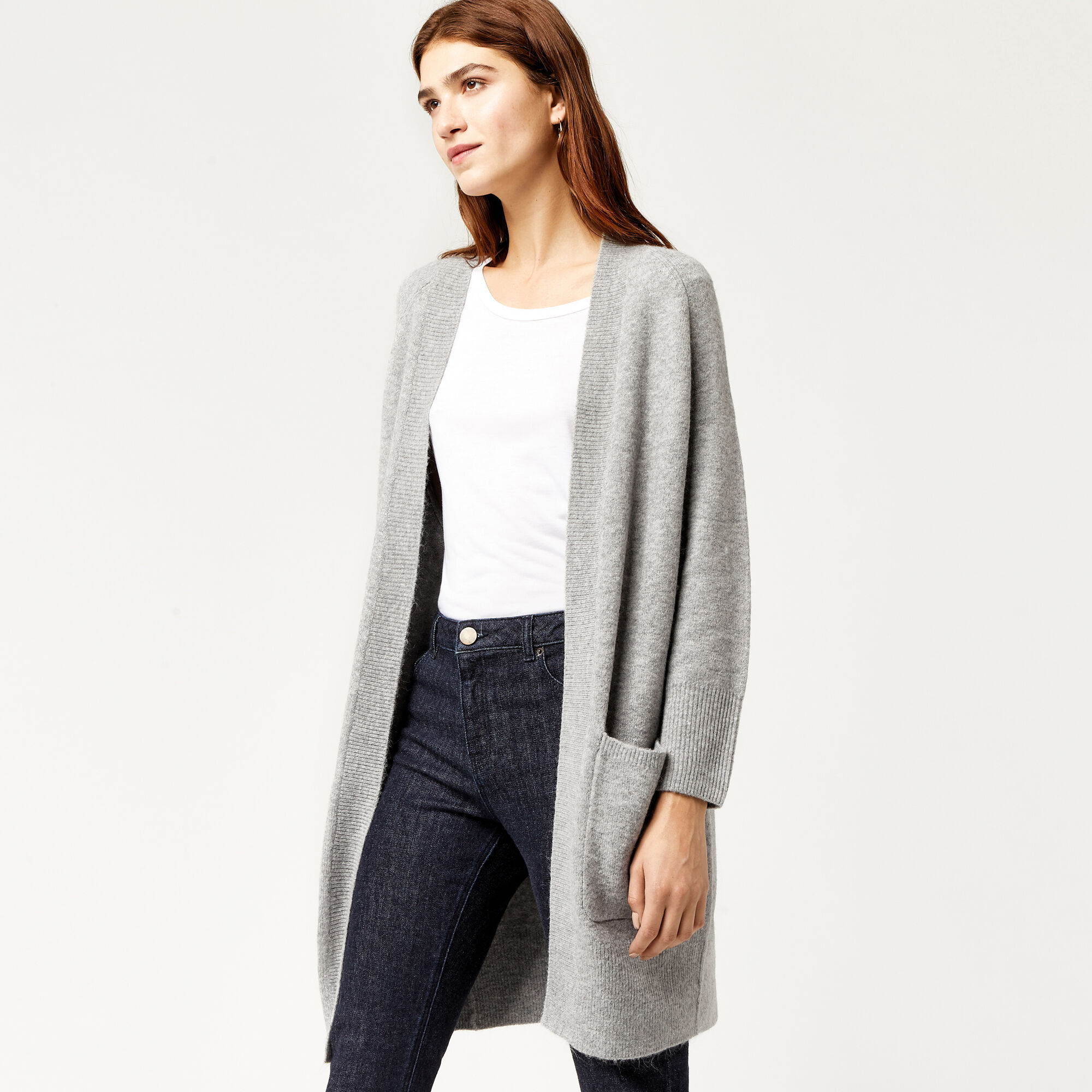 Warehouse, SOFT LONG LINE CARDI Dark Grey 1