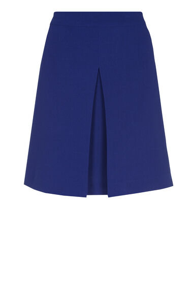 Warehouse, BOX PLEAT PELMET SKIRT Bright Blue 0