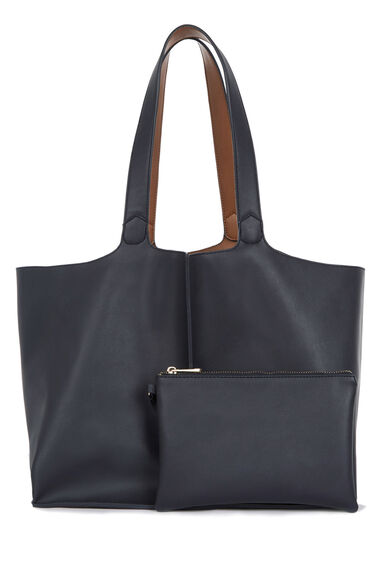 Warehouse, Reversible Tote Bag Navy 0