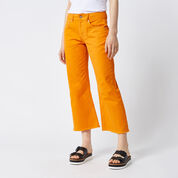 Warehouse, Cropped Flare Jeans Orange 1