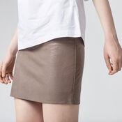 Warehouse, Faux Leather Mini Skirt Mink 4