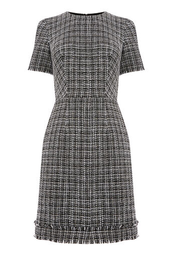 Warehouse, MONO TWEED DRESS Black Pattern 0