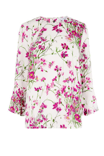 Warehouse, FULL BLOOM TOP Pink Pattern 0