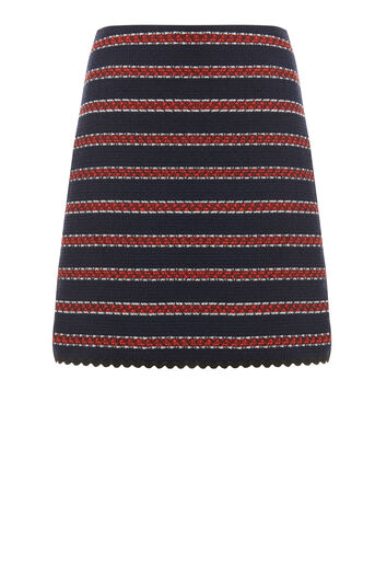 Warehouse, BRIDGET STRIPE SKIRT Blue Stripe 0