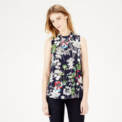 Warehouse, HIGH NECK FLORAL TOP Multi 1