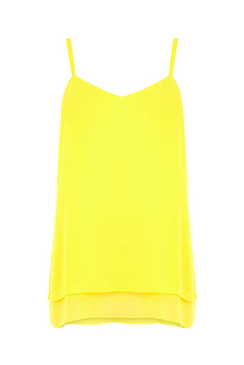 Warehouse, DOUBLE LAYER CAMI Yellow 0
