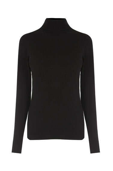 Warehouse, POLO NECK JUMPER Black 0
