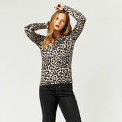 Warehouse, ANIMAL PRINT JUMPER Grey Pattern 4