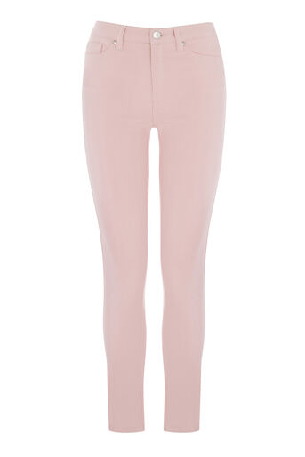 Warehouse, Crop Skinny Cut Jeans Light Pink 0