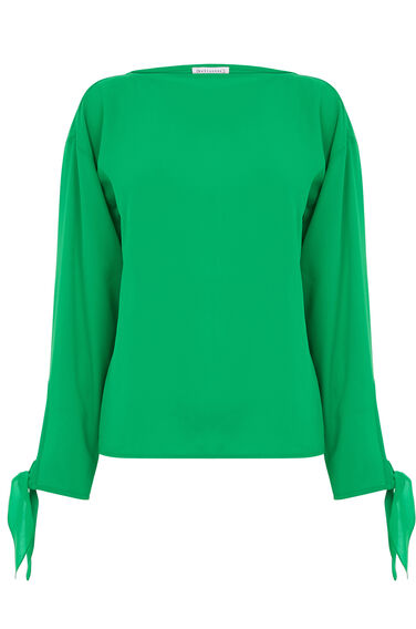 Warehouse, TIE SLEEVE TOP Bright Green 0