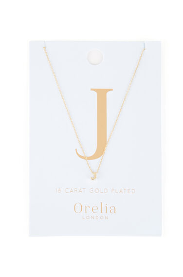 Warehouse, PERSONALISED NECKLACE J Gold Colour 0