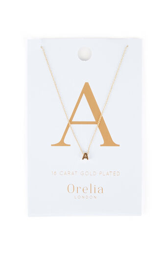 Warehouse, ORELIA INITIAL NECKLACE A Gold Colour 0