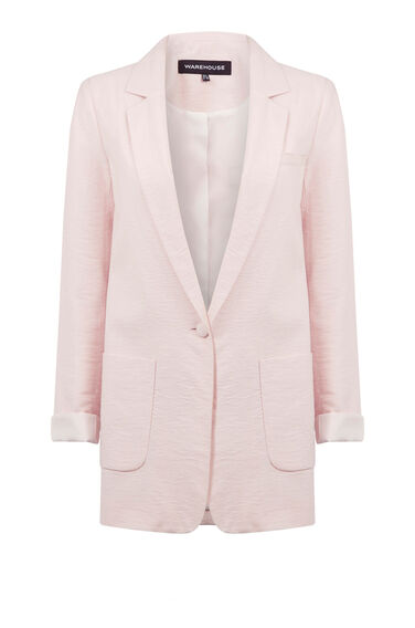 Warehouse, SOFT BOYFRIEND JACKET Light Pink 0