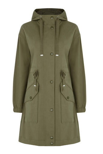 Warehouse, Casual Parka Khaki 0