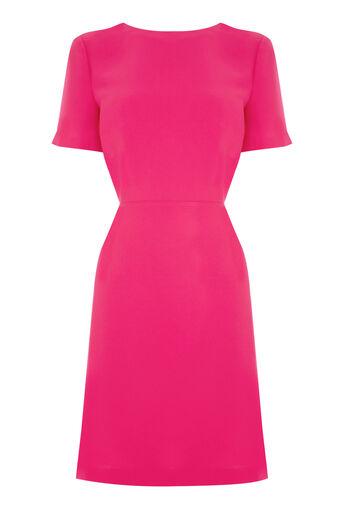 Warehouse, CROSS BACK DRESS Bright Pink 0