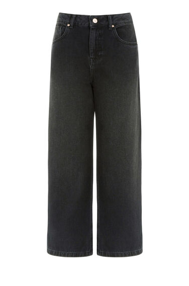 Warehouse, Wide Cut Jeans Black 0