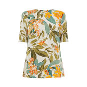 Warehouse, TROPICAL GARDEN T-SHIRT Neutral  Print 0